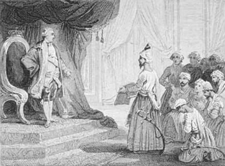 king louis with tipu ambassador