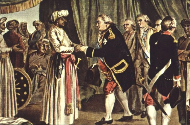 Suffren_meeting_with_Haider_Ali,_26_july_1782_engraved_by_J_B_Morret_1789